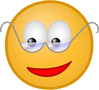 smiley with glasses clip art
