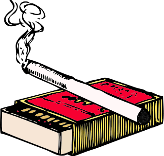 cigarette and matchbox