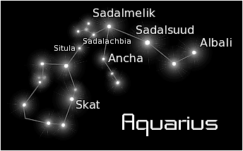 constellation aquarius black