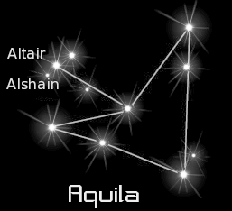 constellation aquila black