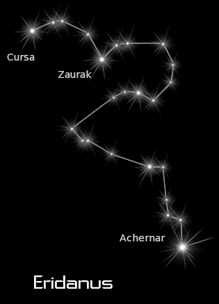 constellation eridanus black