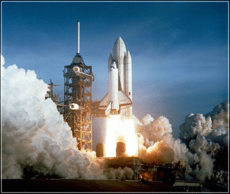 space ship shuttle launch 1