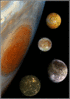Solar system jupiter and moons composite clip art