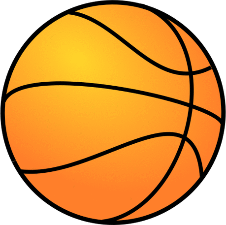 Basketball large basketball gradient color