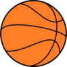 Basketball large basketball basic clip art