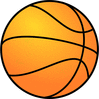 Basketball large basketball gradient color clip art