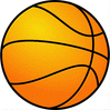Basketball large basketball textured clip art