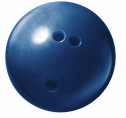 bowling ball blue 250