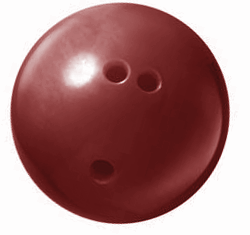bowling ball red 250