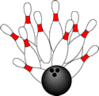 Bowling Ball Pins 10 clip art