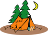 sleeping camper clip art