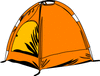 umbrella tent clip art