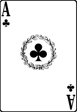 Cards deck clubs ace