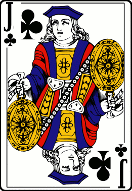 Cards deck clubs jack