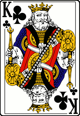 Cards deck clubs king