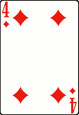 Cards deck diamond 4
