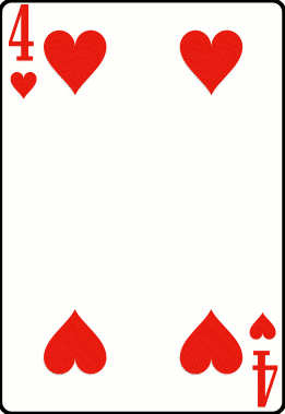 Cards deck heart 4