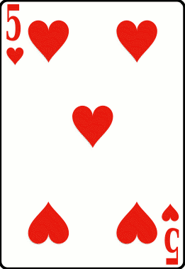 Cards deck heart 5