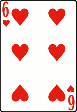Cards deck heart 6