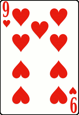 Cards deck heart 9