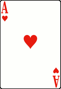 Cards deck heart ace