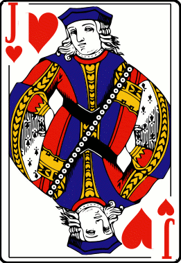 Cards deck heart jack