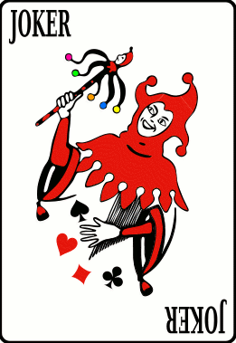 Cards deck joker black