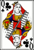 Cards deck clubs queen clip art