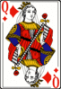 Cards deck diamond queen clip art