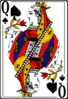 Cards deck spade queen clip art