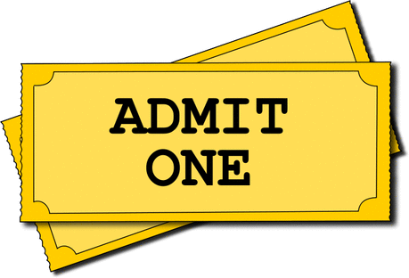 movie tickets admit one