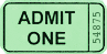 ticket green clip art