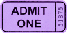 ticket purple clip art