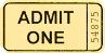 ticket yellow clip art