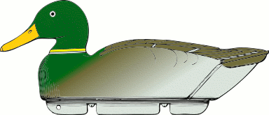 duck decoy side view
