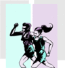 Jogging Couple 5 clip art