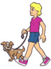 walk dog clip art