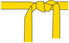 karate belt yellow clip art