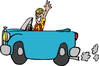 ride in car clip art