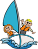 sailing kids clip art