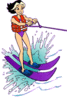 waterski clip art