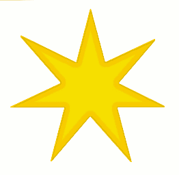 Star 7 pointed star gold