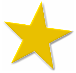 Star basic 5 point gold star beveled