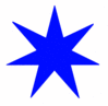 Star 7 pointed star blue clip art