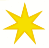 Star 7 pointed star gold clip art