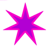 Star 7 pointed star pink 2tone clip art