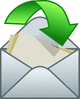 open envelope w arrow clip art