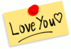 thumbtack note Love you clip art