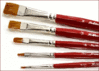 brushes red clip art