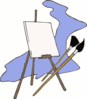 painting easel clip art